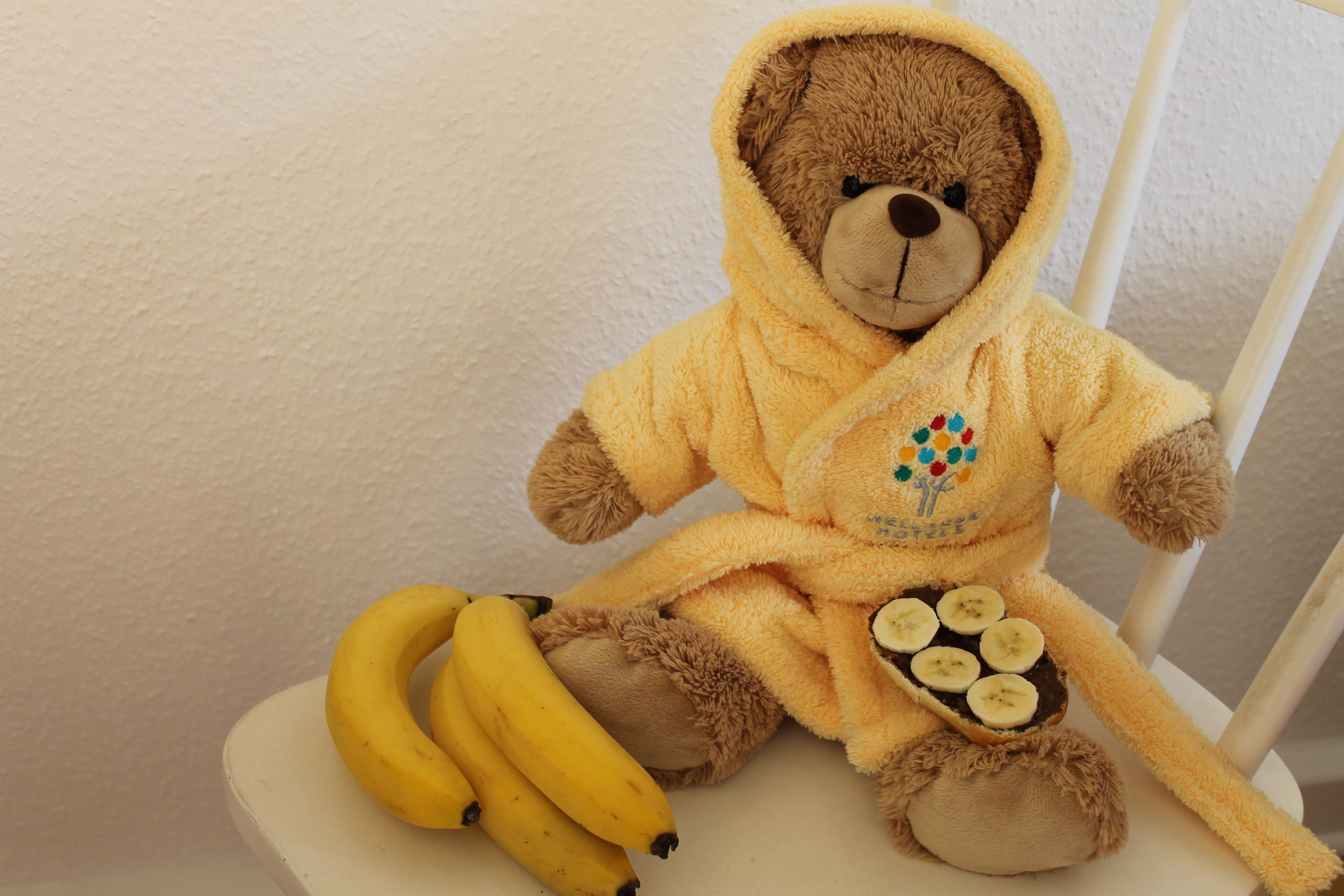 Sportler-Frühstück für den Wellness-Teddy