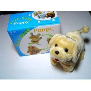 Blond Terry Puppy Walks Sits Barks Flips Over Toy Cute
