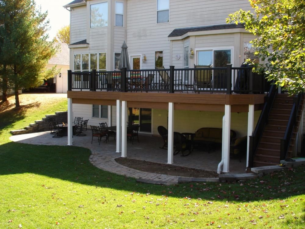 After - Deck with Paver Patio and Under Deck Ceiling ...