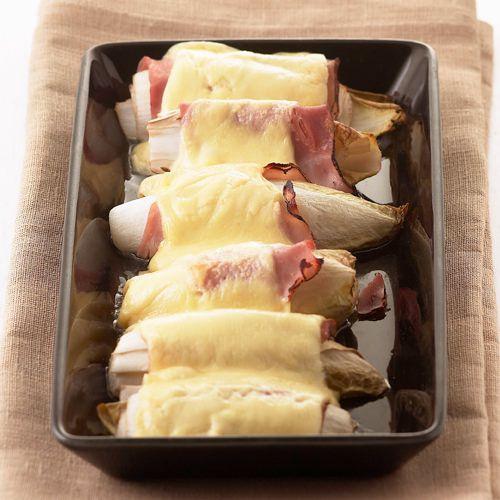 Witlof uit de oven met ham en kaas #nachosmetkaasuitdeoven