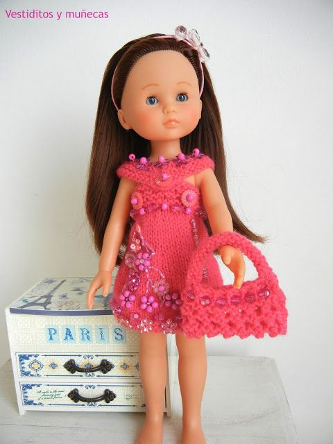 Vestiditos y muñecas: Vestido fucsia CADEAUX. CHLOÉ DE COROLLE.