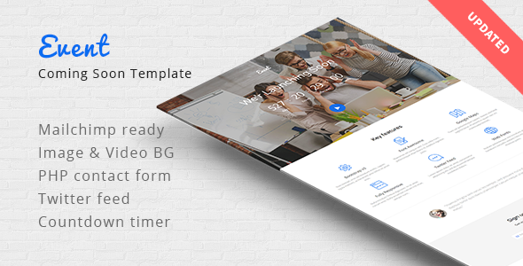Event Coming Soon Responsive Template Templates, Craft