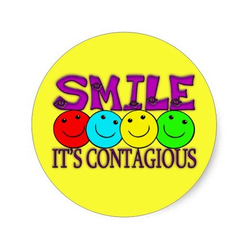 Smile its contagious stickers