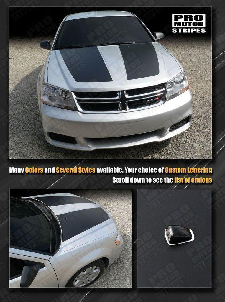 Dodge Avenger 2008 2014 Hood Racing Stripes Racing Stripes Dodge Avenger Stripes