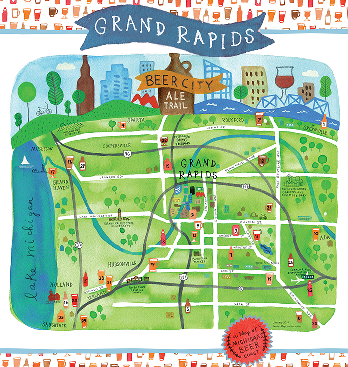 Grand Rapids Brewery Map Grand Rapids, Michigan Tourism | Experience Grand Rapids: Beer