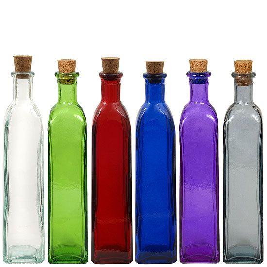 Glass Bottles Decorative Colored Glass Bottles  Decorative Glass Bottle  Assorted Colored