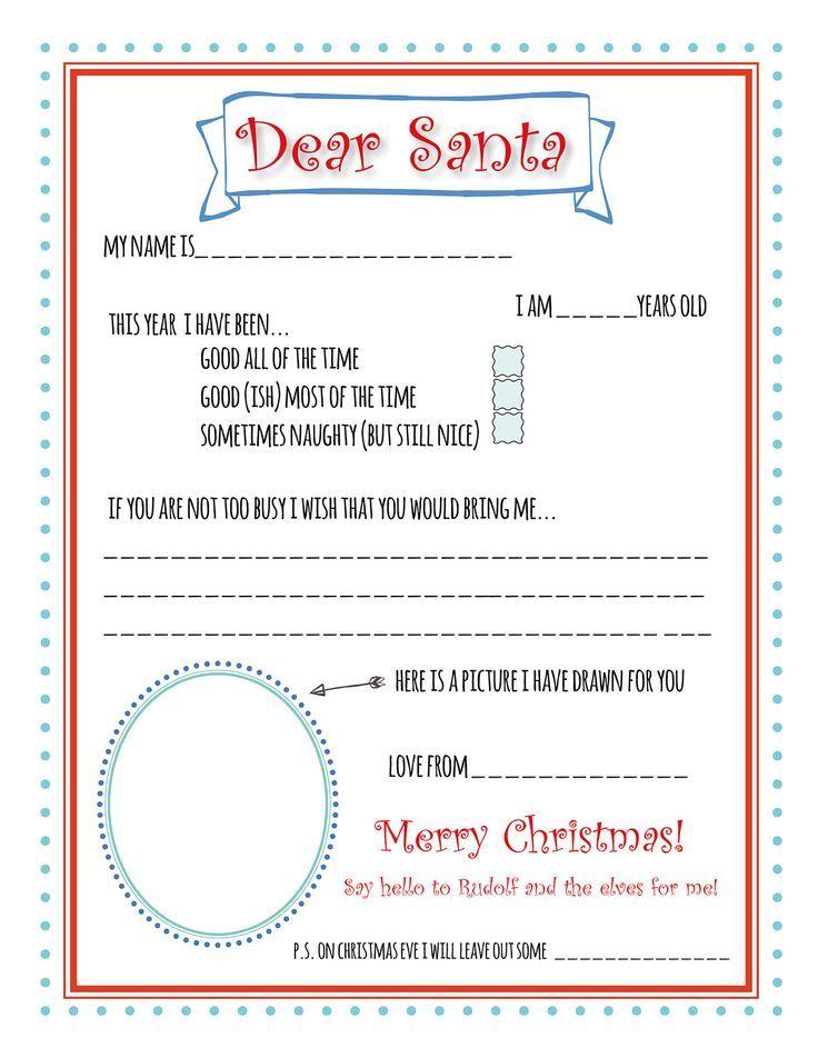 Santa Letter Printable Template  Santa Letter Printable Bunny