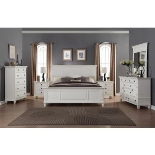 Good Shop For Regitina White 6 Piece King Size Bedroom Furniture Set. Get Free