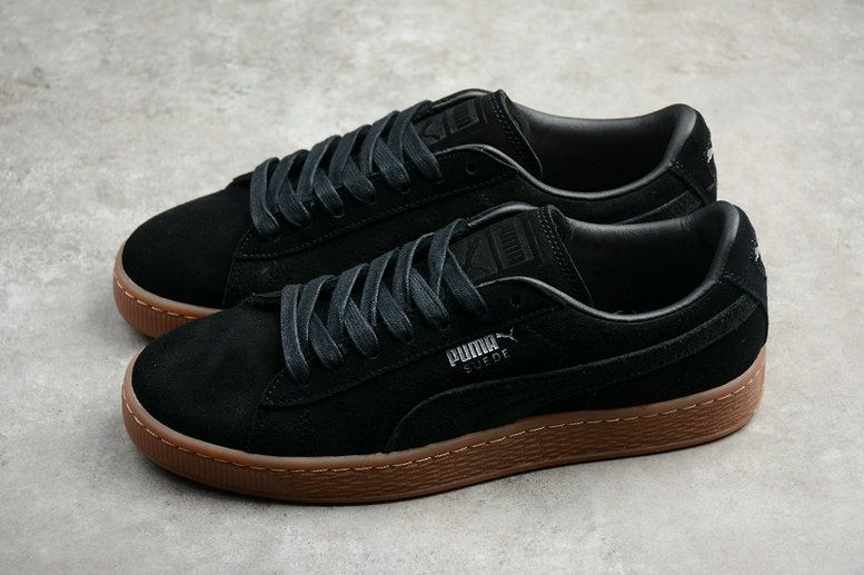 6abb26b7492e Cheapest Men Puma Suede Classic Citi Casual Sneaker Black Brown 362551-03