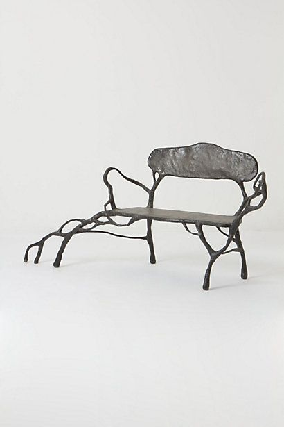 Would love this rooted bench in my backyard! #anthropologie