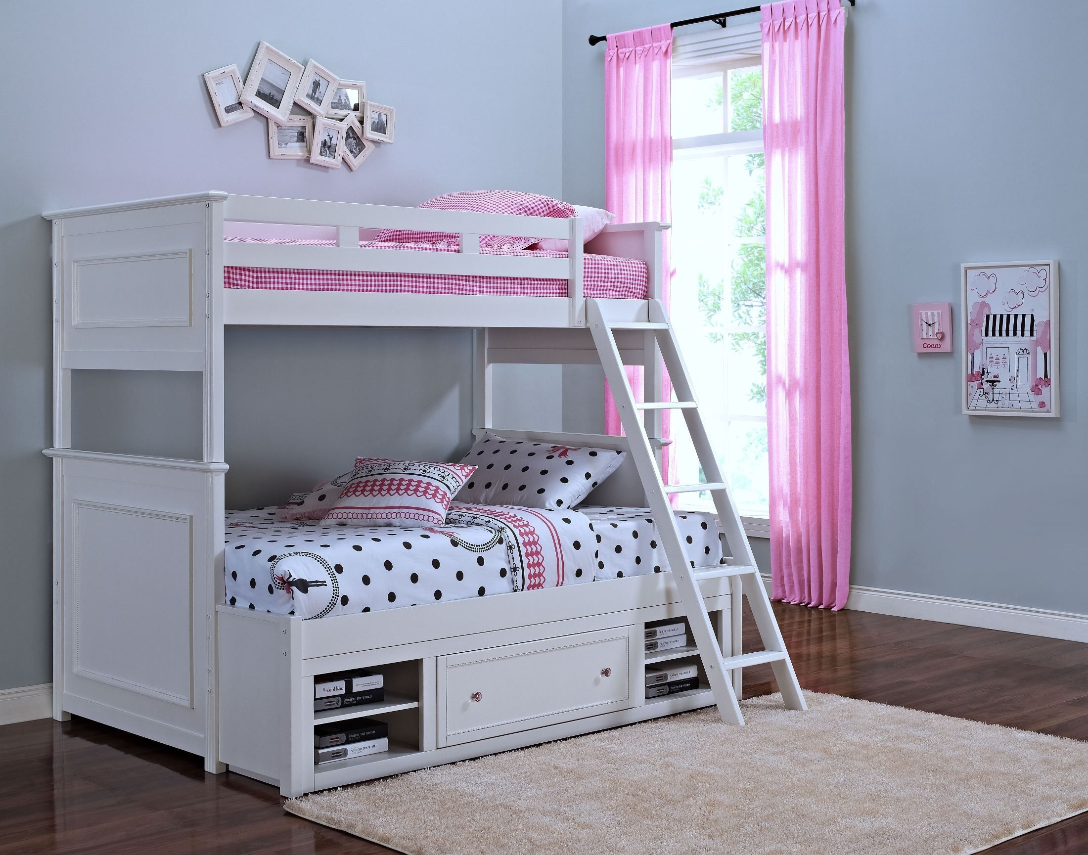 Megan Youth White Twin Over Full Bunk Bed By New Classics Get Unbelievable Low Prices And Free Bunk Beds With Storage Twin Over Full Bunk Bed Full Bunk Beds