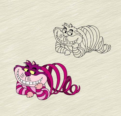 Cheshire Cat 3 Svg Dxf Eps Png Cricut Cutting File Vector Vozeli Com