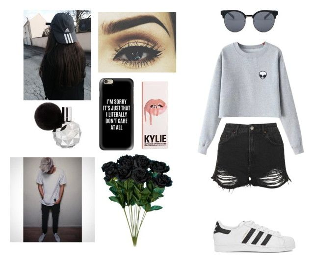 """Date with Samy"" by valxgrunge ❤ liked on Polyvore featuring Topshop, Casetify, adidas Originals, Chicnova Fashion, Quay, grunge, Alien, brandymelville and samwilkinson"