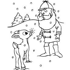20 Best Rudolph The Red Nosed Reindeer Coloring Pages For Your