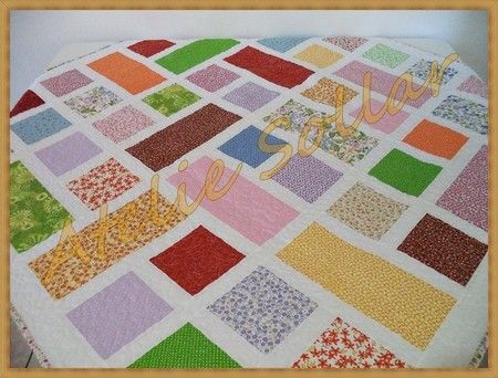 Toalha de mesa em patchwork Mod Colorida
