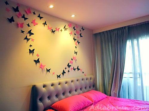 Paper Butterfly Wall Art DIY Quick Video Instructions | Pinterest ...