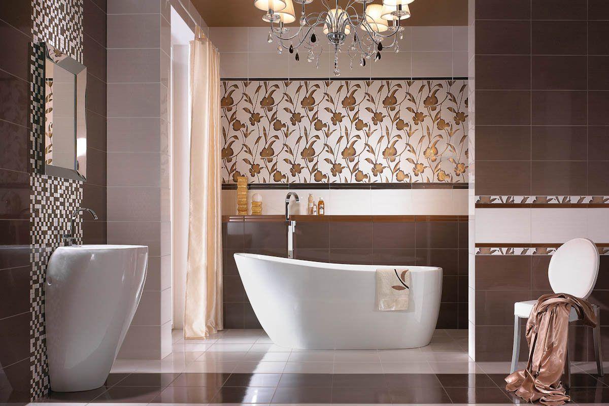 Badezimmerfliesen mit Blumenmotiv-badezimmer fliesen ideen ...