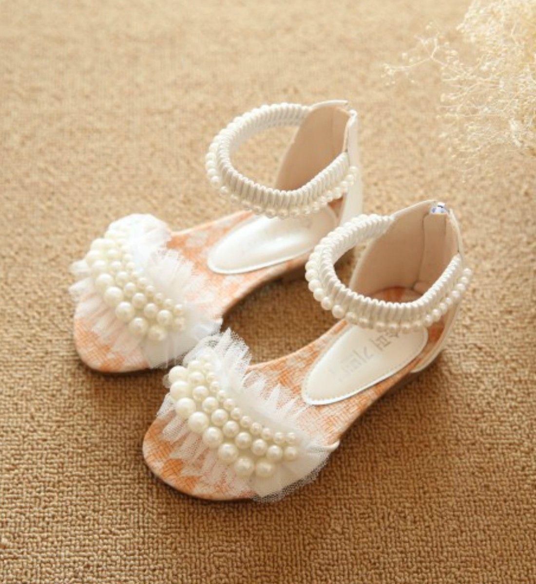 Toddler \u0026 Little Girl Pearls Sandals