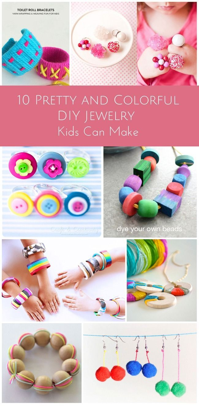 Creative and Colorful DIY Jewelry for Kids.