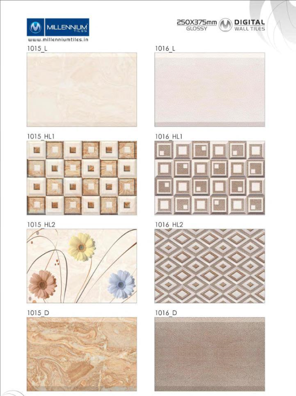 Millennium Tiles 250x375mm Digital Wall Tile Series Wall Tiles Wall Digital Wall