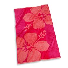Bed Bath And Beyond Beach Towels Amusing Hibiscus Floral 30' X 60' Beach Towel  Bed Bath & Beyond Decorating Design