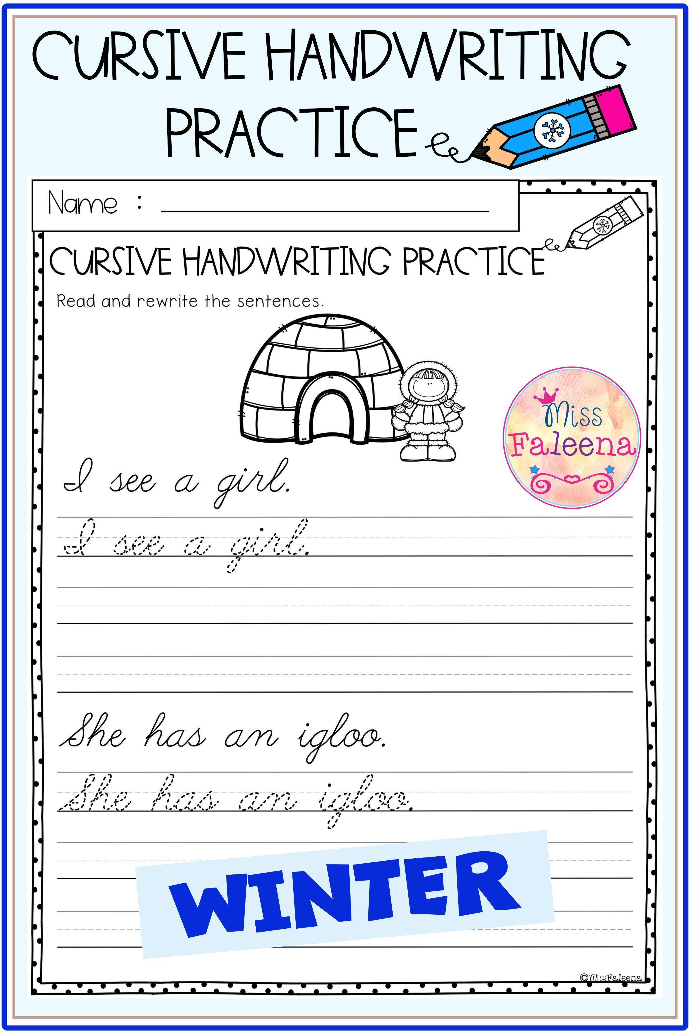 Winter Cursive Handwriting Practice Cursive Handwriting Practice Handwriting Practice Cursive Handwriting [ 3544 x 2364 Pixel ]