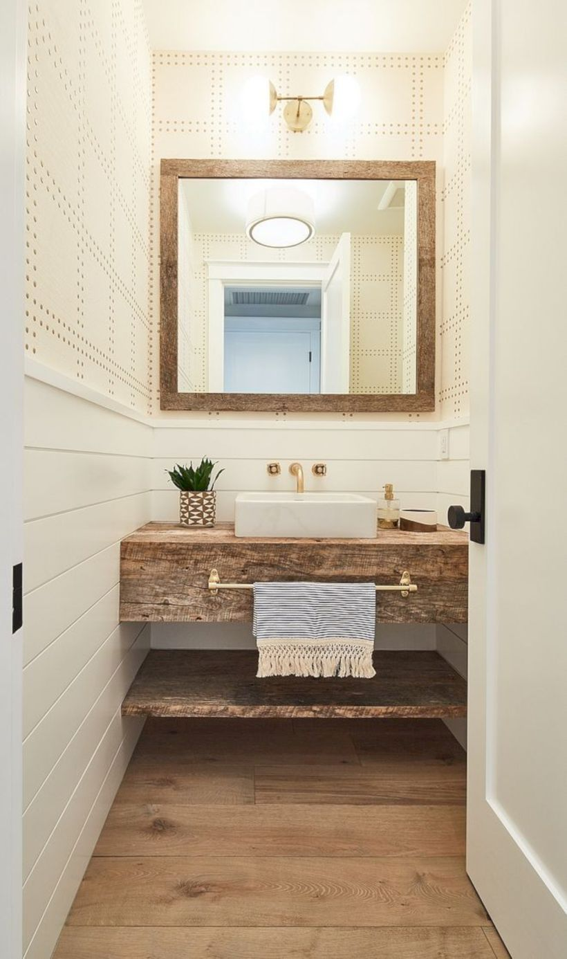 40 Modern Rustic Farmhouse Style Bathroom Ideas