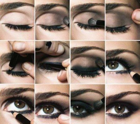 Smokey Eyes paso a paso, ¡toma nota! Makeup, Eye and Smokey eye steps