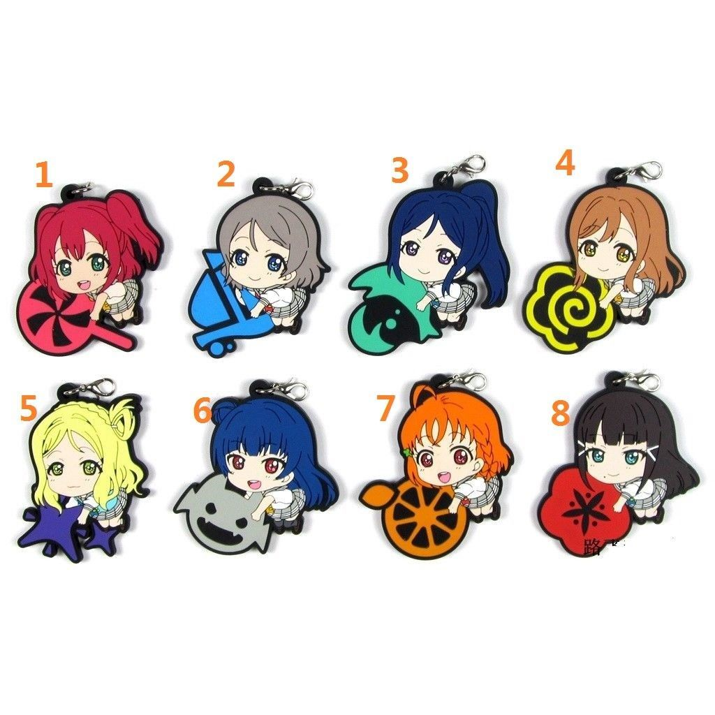Sunshine! Love Live Lovelive Aqours Anime Rubber Strap Charm Keychain Sanrio