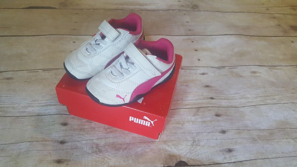 0c2daab73fd36 PUMA Tune CAt 3 V Inf White-Fuschsia Toddler Girl Tennis Shoes Size ...