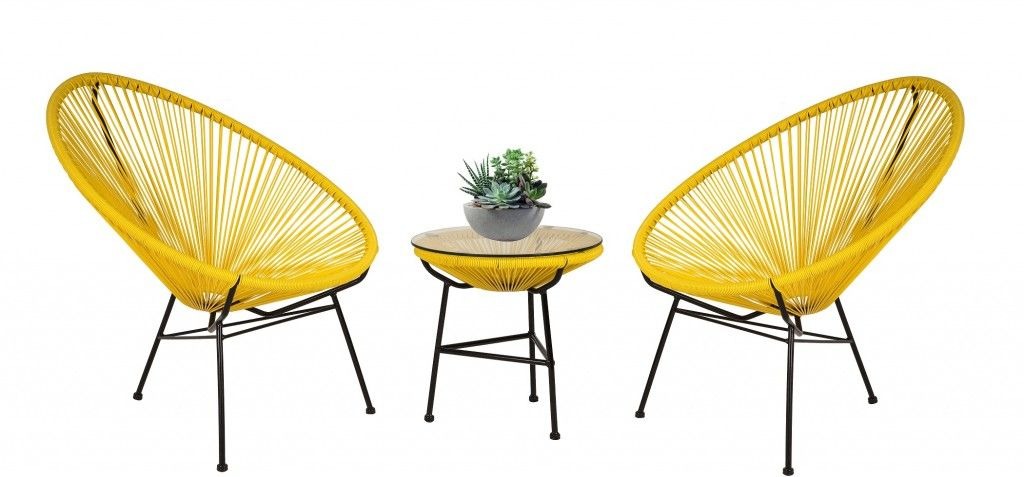 Yellow Acapulco Chair And Side Table2
