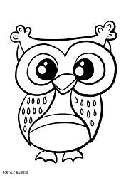 Disegni Di Gufi Da Colorare Owl Gufo Coloring Coloringpages