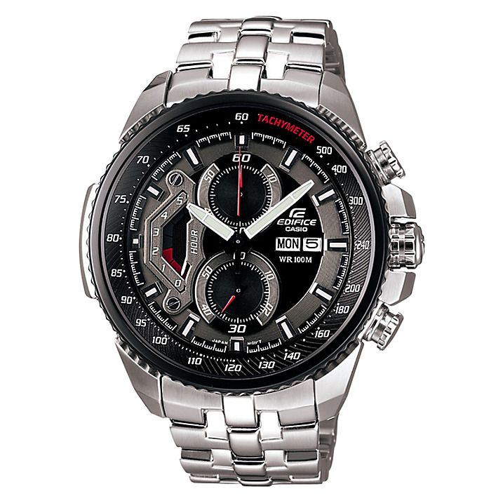 Buy Casio EF-558D-1AVEF Men's Edifice Chronograph Stainless Steel Bracelet Watch Online at johnlewis.com