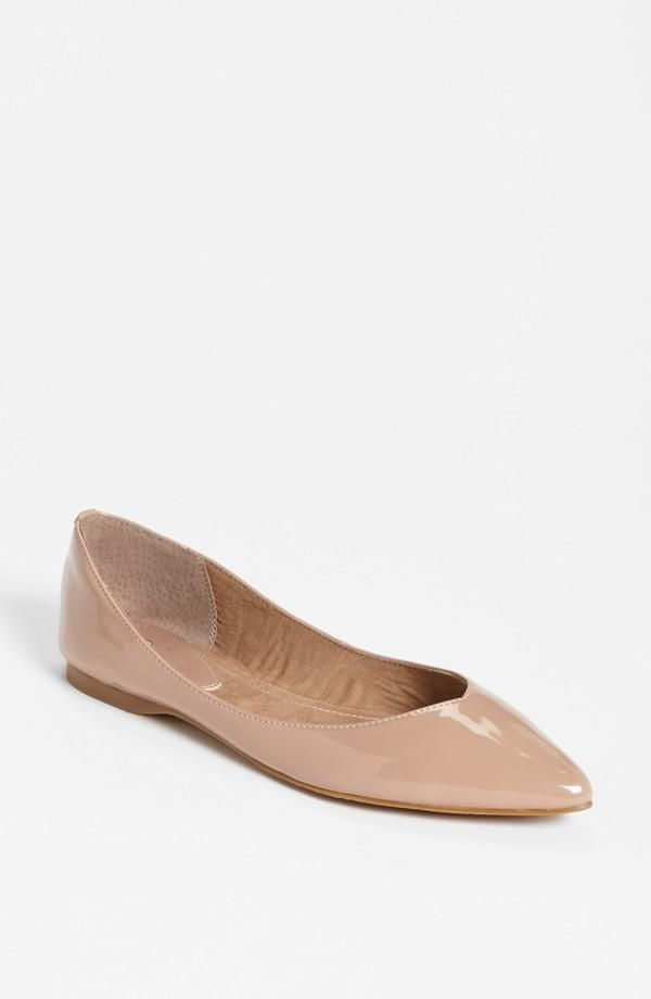 f6f63aa4b Simple nude pointy toe flat.   Nordstrom Exclusive Brands   Shoes ...