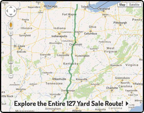 longest yard sale 2014 map | Home - 127 Yard Sale - The World\'s ...