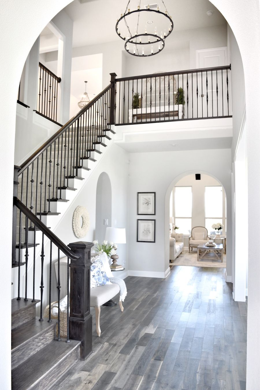 Home interior railings tour this refined and fresh family home in dallas  dallas spaces