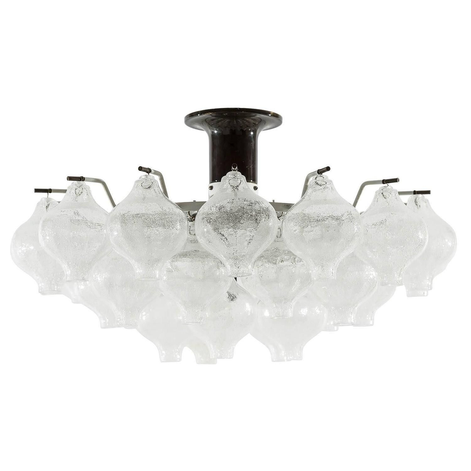 Large kalmar tulipan ceiling flush mount light fixture bubble glass large kalmar tulipan ceiling flush mount light fixture bubble glass 1960s arubaitofo Image collections