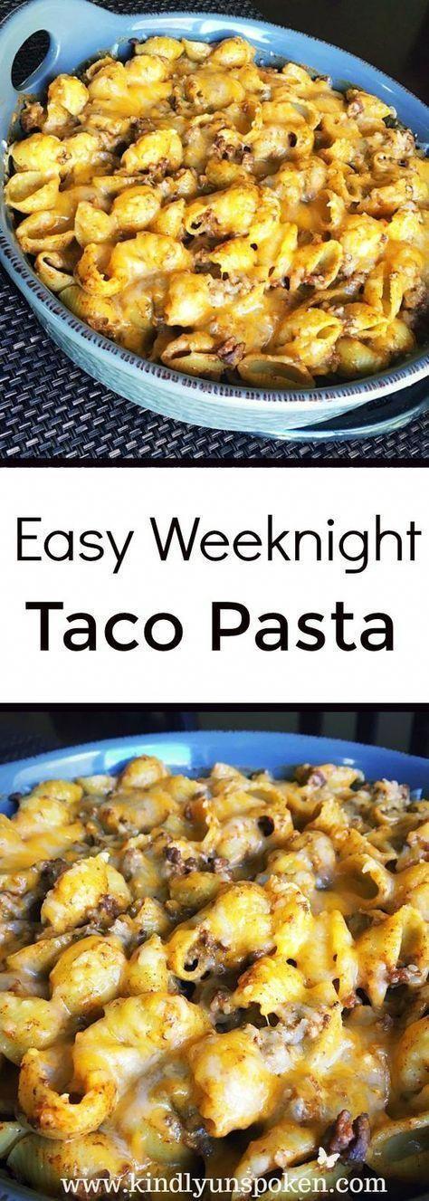 Easy Weeknight Cheesy Taco Pasta