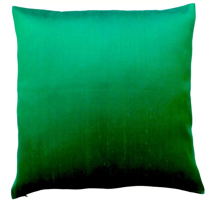 thai silk pillow emerald green our soul home pinterest vert deco et maison. Black Bedroom Furniture Sets. Home Design Ideas