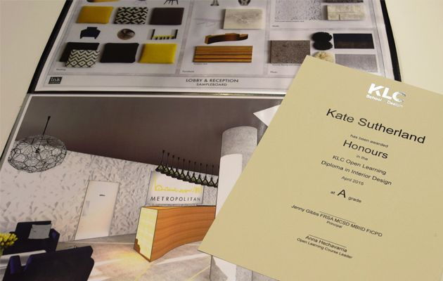 Online Interior Design Diploma Example Of A Klc Ol Diploma
