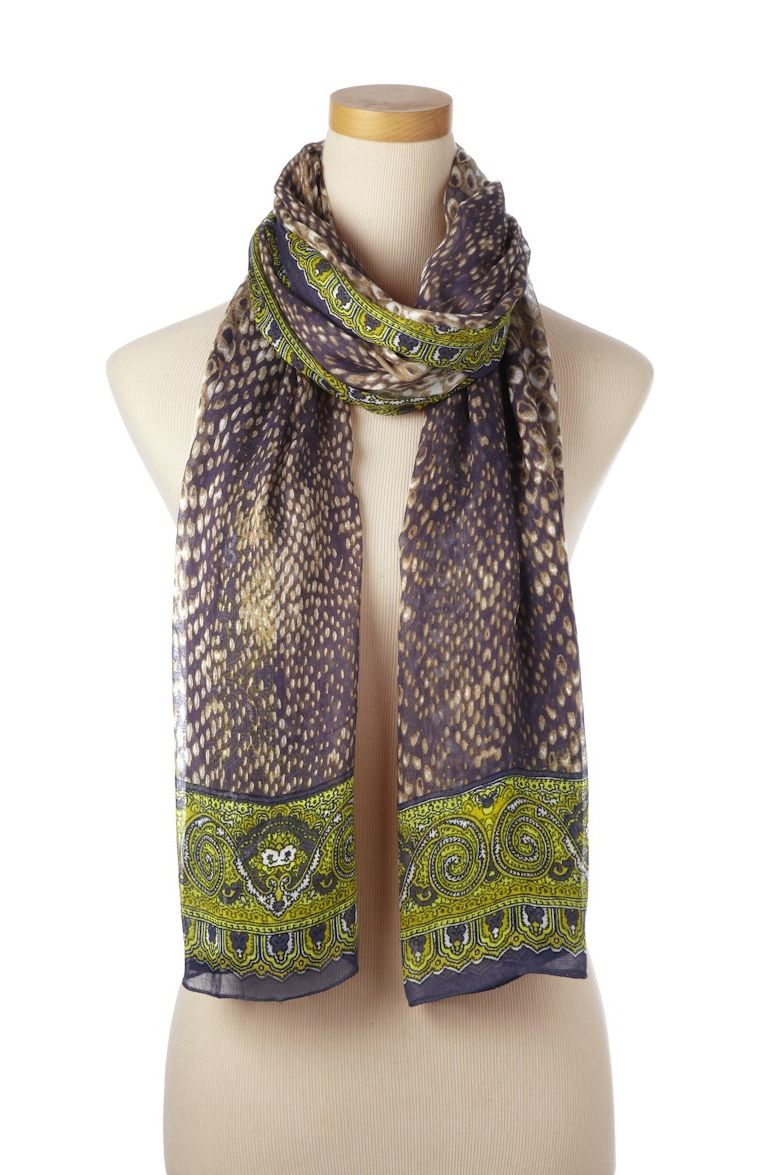 Gift for the girl on the go: @theodoracallum Citron Multi Amazon scarf, straight from their Resort 2015 collection #GiveSpring