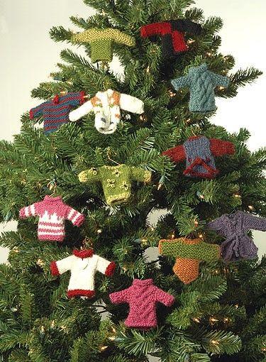 Miniature Sweater Ornaments Free Knitting Pattern Christmas Christmas Ornament Crafts Knit Christmas Ornaments Christmas Ornaments