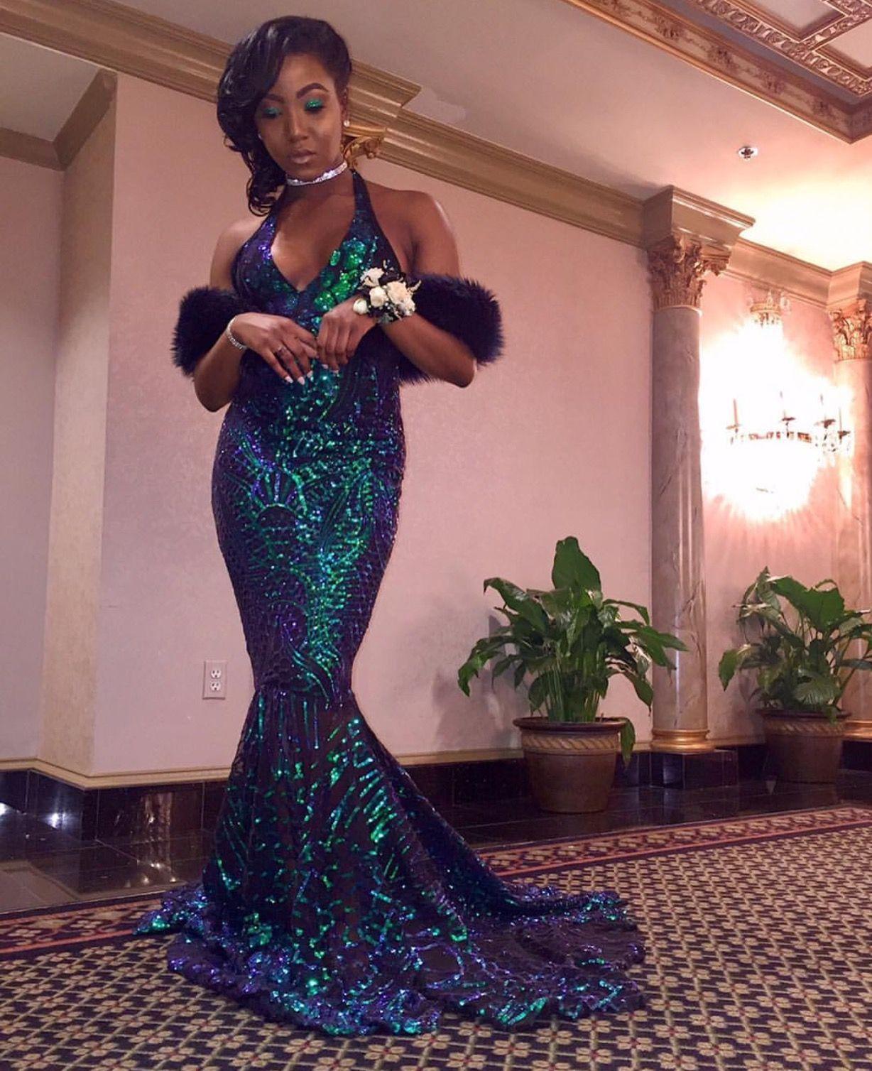Black Mermaid @Hair,Nails,And Style   Prom ❤   Pinterest   Vestiditos