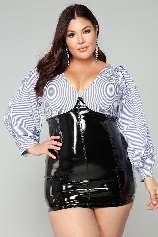 Plus size fetish cut out chemise