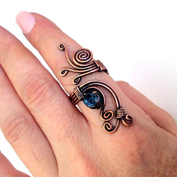 Draht gewickelt handgefertigten Schmuck Ring von BeyhanAkman | gr ...