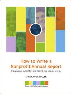 How To Write A Nonprofit Annual Report EBook Cover  Fundraising