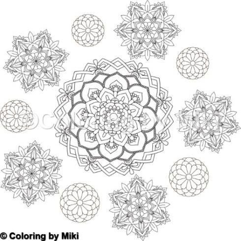 More Mandala Coloring Pages You Can Download For Free 無料