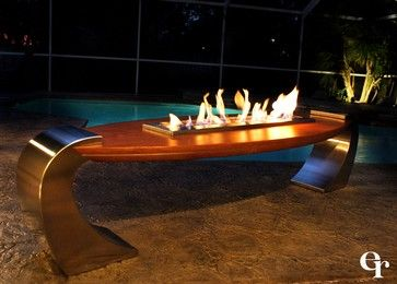 Board Fire Table   Modern   Firepits   Tampa   Urban Concepts Modern  Fireplace Design