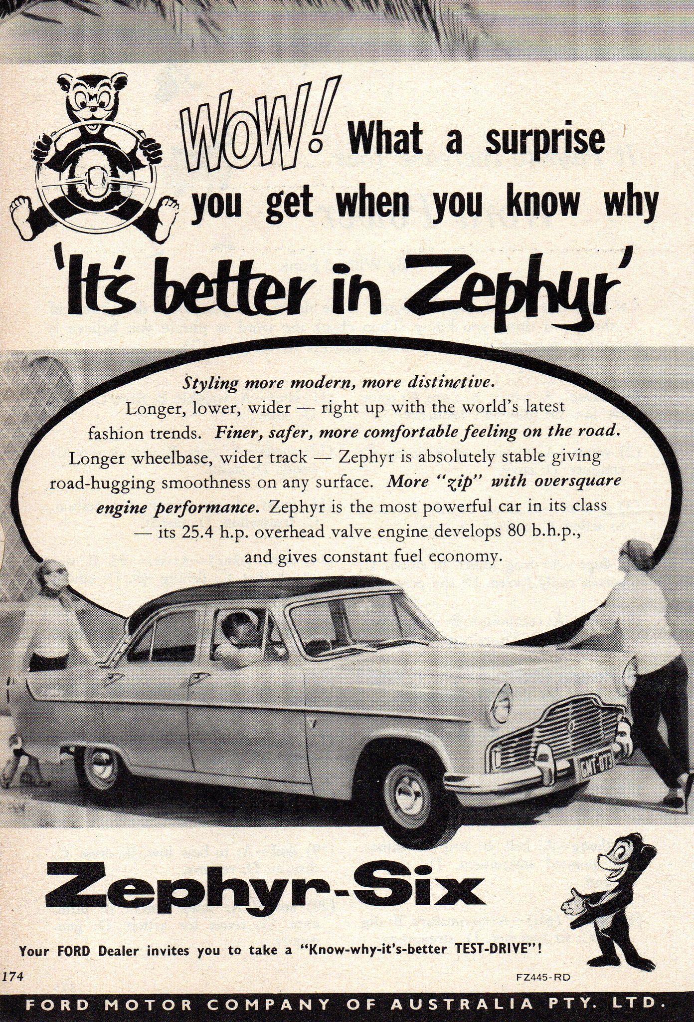 1958 Ford Zephyr Six Sedan Aussie Original Magazine Advertsement