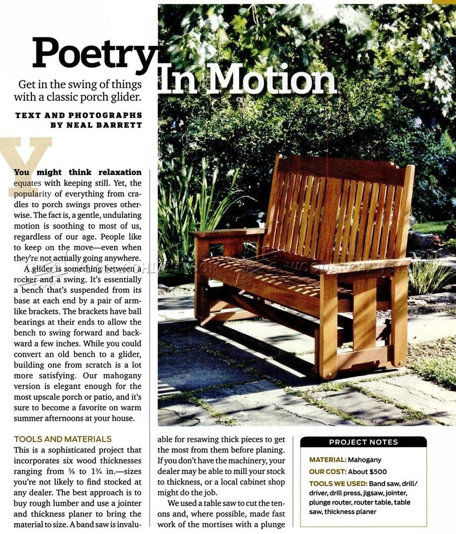 Porch glider plans outdoor furniture plans